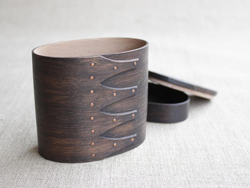 オーバル茶筒(ブラックウォールナット)