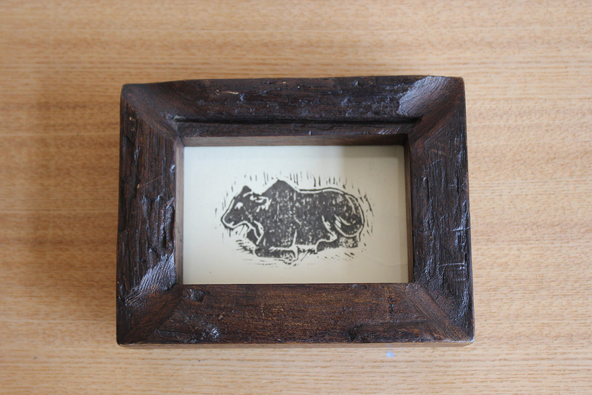 木版画「牛」