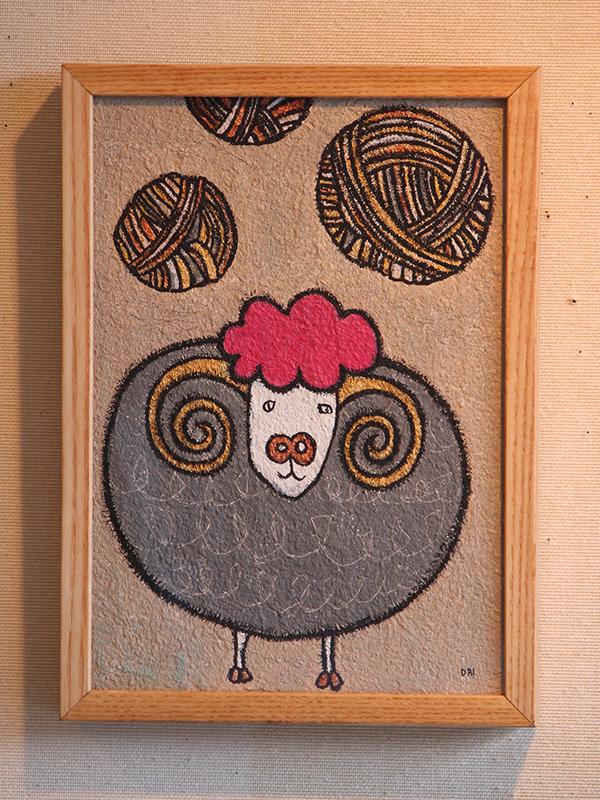毛玉と羊(メス)