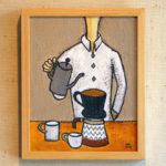 コーヒーをいれる男