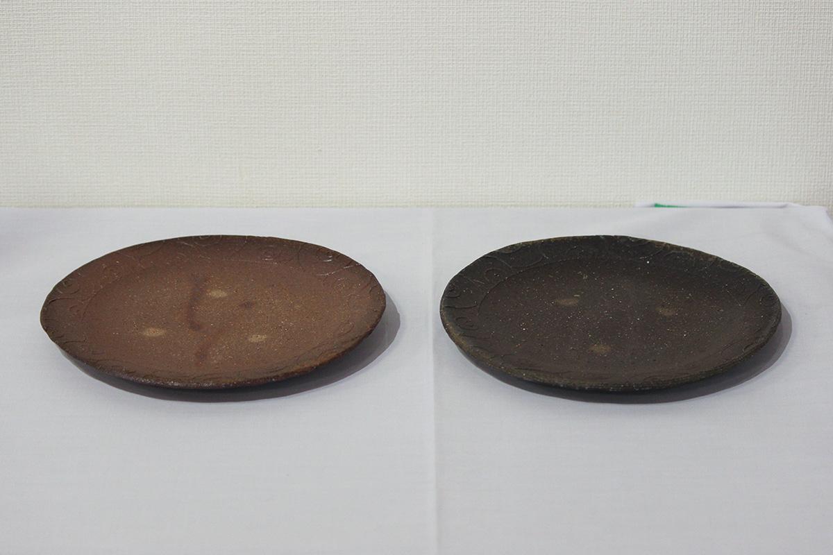 備前組皿(2枚組)